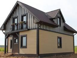 Монтаж сайдинга. Дома, дачи, фронтоны, балконы и др.
