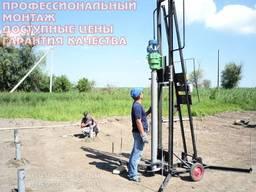 Монтаж свайно-винтовых фундаментов по Украине. Качественно
