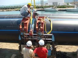 Монтаж трубы полиэтиленовой до 630 диаметра