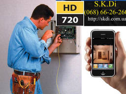 Монтаж видеонаблюдения, установка видеокамер