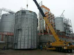Монтаж зернохранилищ