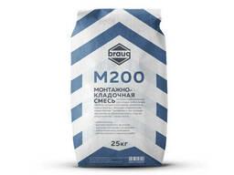 Монтажно-кладочная смесь М200 Braug, 25 кг