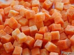 Морковь кубик замороженный