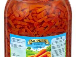 Морква, буряк , капуста маринованная 3л ско банка(упаковка 4шт)