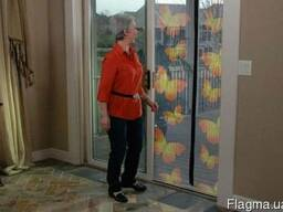 Москитная сетка на дверь, с бабочками Insta-Screen