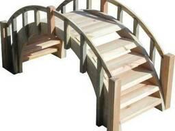 Мост-ступени деревянный декоративный