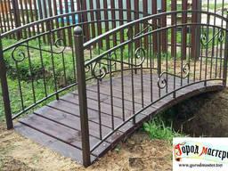 Мостики для сада. Садовые мостики из металла, металла и дерева