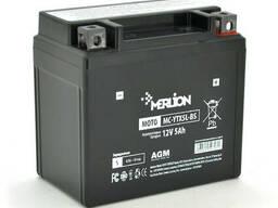Мотоаккумулятор Merlion (12V 5.0Ah) MC- YТХ5L-BS, Black Case