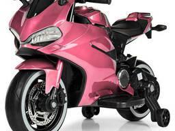 Мотоцикл M 4104ELS-8 розовый 2мотора25W, 1аккум12V9AH