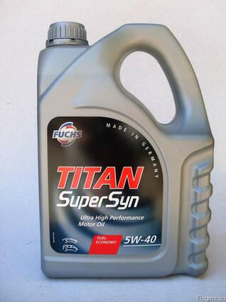 Моторное масло Fuchs Titan SuperSyn 5w40 синтетика 4л