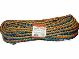 "Мотузка господарська ""Веселка"" TM Virok, 9мм Х 20 м, р/н=200кгс, поліпропіленова, з. .."