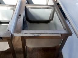 Мойка двойная XXL из нержавеющей стали (AISI 201)
