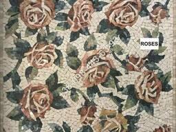 Мозаичное панно из мрамора (мраморный декор из мозаики)
