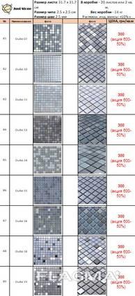 Мозаика стеклянная АкваМо, мозайка стекло для бассейна, ванной, в хамам