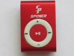 MP3 плеер алюминиевый Клипса + Наушники +USB переходник red (красный)