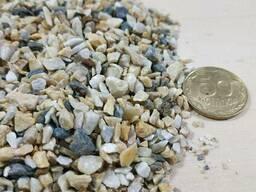 Мраморная крошка крем-серый, фракция 2, 5-5 мм, камень для ла