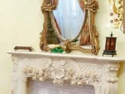 Мраморный камин. Каминный портал из мрамора. Облицовка