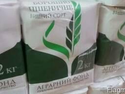 Мука пшеничная в/с фасованная по 2 кг. ГОСТ 46.004-99