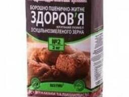 """Мука пшенично-ржаная """"Здоровье"""" грубого помола, 2 кг"""