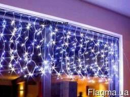 Мультицветная гирлянда 300 LED Бахрома (цветная светодиодная