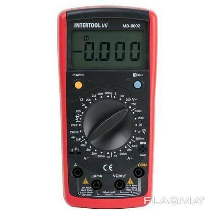 Мультиметр цифровой CAT III-600В/CAT II-1000В Intertool. ..