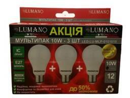 Мультипак LED лампи 10W*3 4000К LU-MLP-0101010 (40шт/ящ). ..
