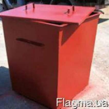 Мусорный контейнер металлический. Бак для мусора