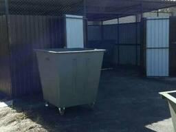 Мусорный контейнер, железный бак для мусора, ТБО, отходов - фото 5