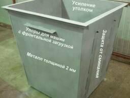Мусорный контейнер, железный бак для мусора, ТБО, отходов - фото 6