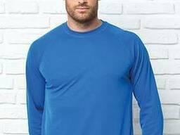 Мужская эластичная футболка с длинными рукавами
