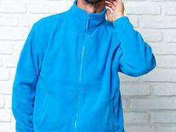 Мужская флисовая куртка цвет бирюза в наличие