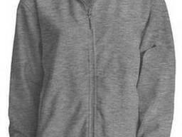Мужская флисовая куртка цвет темно серый в наличие