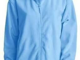 Мужская флисовая куртка цвет голубой в наличие
