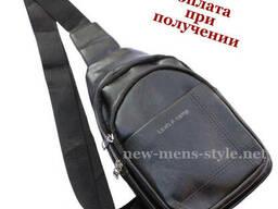 Мужская кожаная сумка слинг рюкзак бананка Levis A Camp. ..