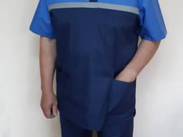 Мужская летняя форма скорой помощи голубая кокетка
