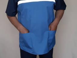 Мужская летняя форма скорой помощи кокетка синий
