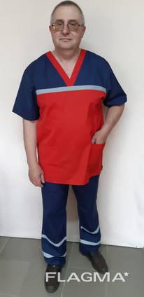 Мужская летняя форма скорой помощи кокетка люкс