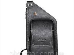 Мужская сумка Jeep 17504 Черная + подарок