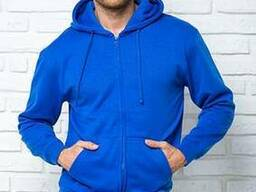 Мужская толстовка с капюшоном синяя