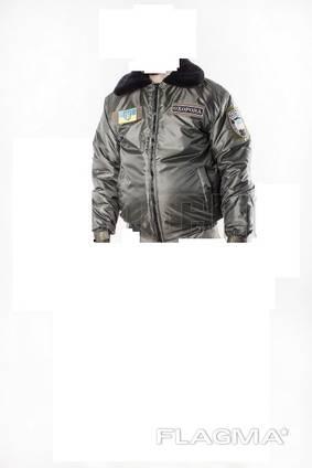Мужская зимняя куртка оливкового цвета