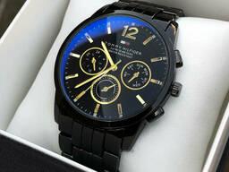 Мужские черные наручные часы Tommy Hilfiger / Томми Хилфигер