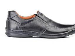 Мужские кожаные туфли Comfort Walk black
