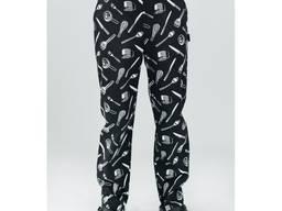 Мужские поварские брюки с принтом