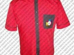 Мужские рубашки с логотипом: печать, вышивка