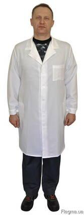 Мужской белый халат рабочий