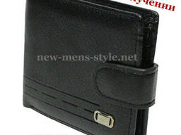 Мужской фирменный кожаный кошелек портмоне гаманець Devis. ..