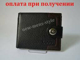 Мужской кожаный кошелек портмоне гаманець бумажник Goosi. ..