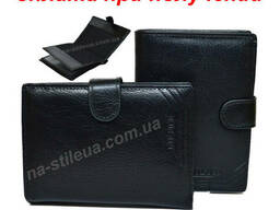 Мужской кожаный кошелек портмоне гаманець Pilusi обложка. ..