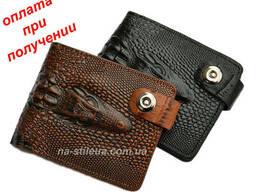 Мужской кожаный стильный кошелек клатч портмоне Alligator...