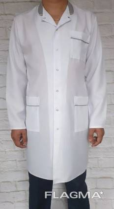 Мужской медицинский халат арт.076, ткань габардин